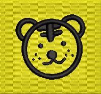 【0015】オリジナル刺繍/M1-31 レモン/Fサイズ※シミュレーション画像