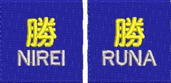 【0027】チーム刺繍/M-71 ロイヤルブルー/Jrサイズ ※シミュレーション画像