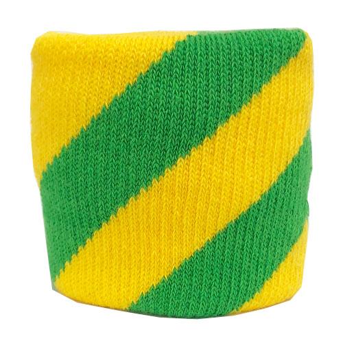 【0055】<br>ジャガード織り加工<br>黄色×緑<br>斜めストライプ
