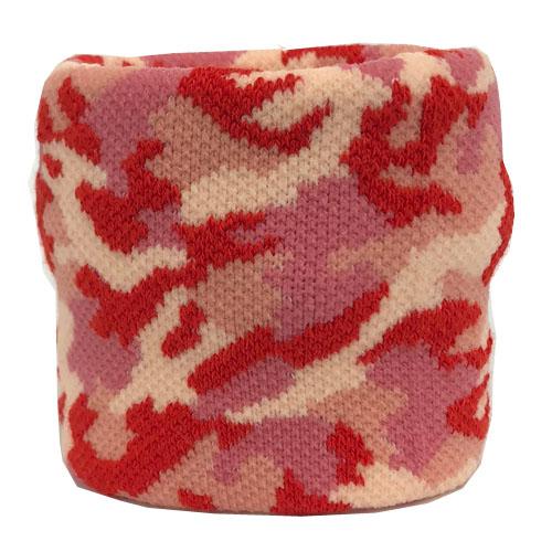 【0054】<br>ジャガード織り加工<br>迷彩柄 赤