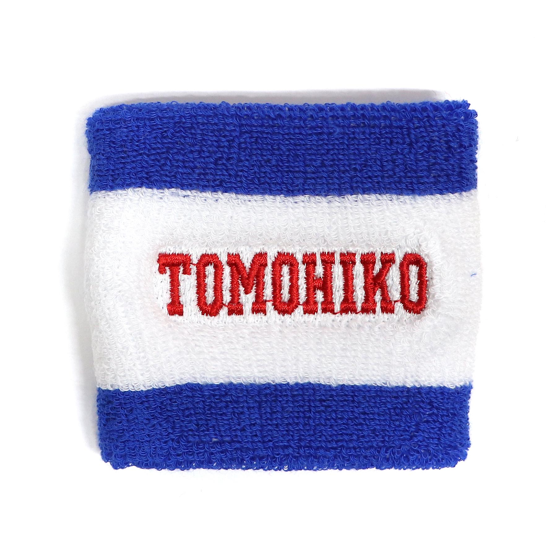 【16695】フォント刺繍/2T-01 ブルー×ホワイト/Fサイズ