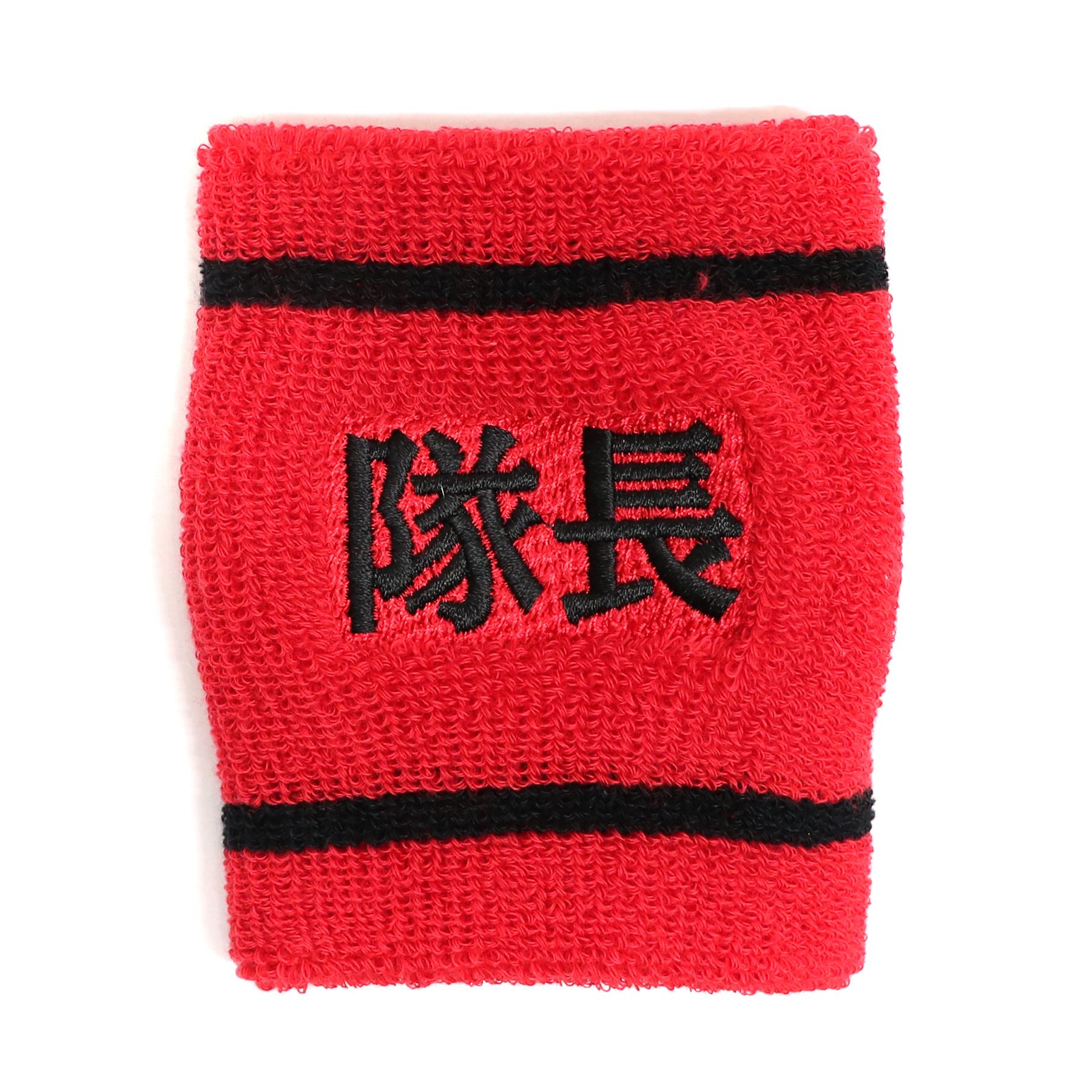 【17645】フォント刺繍/LN-L03:赤地×黒/Lサイズ